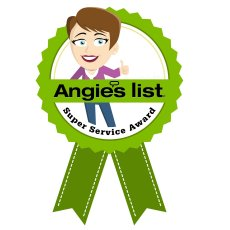 Angies list super service decalCopysm